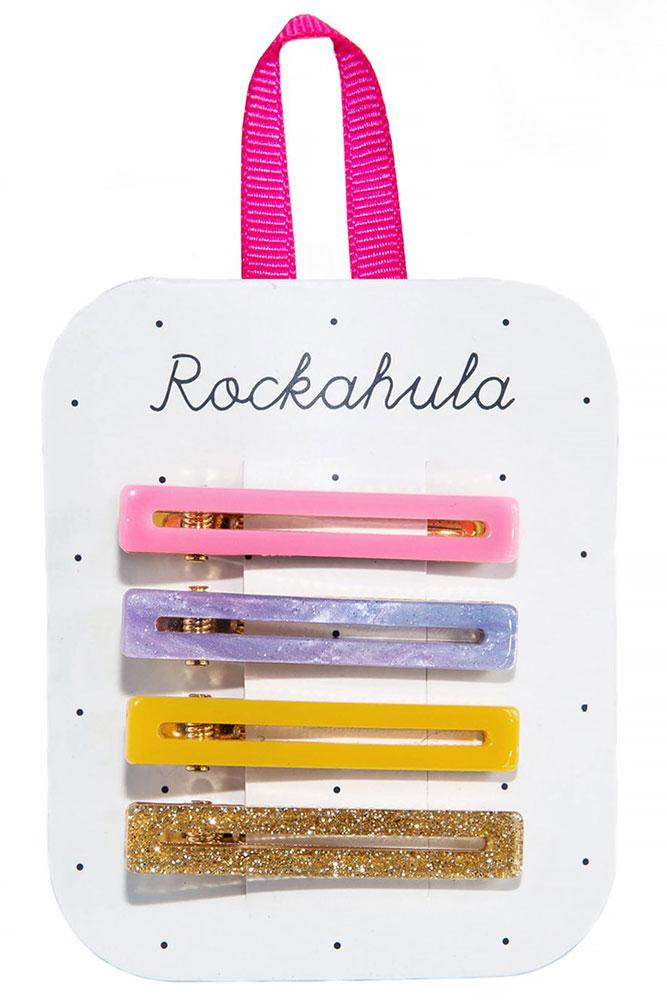 Rockahula Kids Spinki do włosów Retro Bar Rainbow - Pan Talerzyk