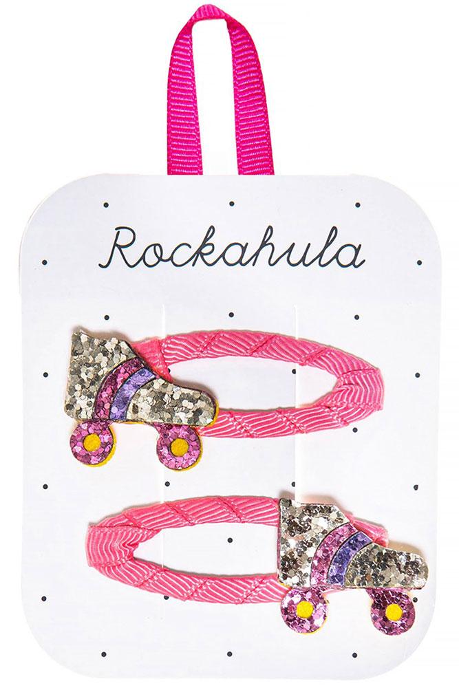 Rockahula Kids Spinki do włosów Roller Disco Gitter - Pan Talerzyk