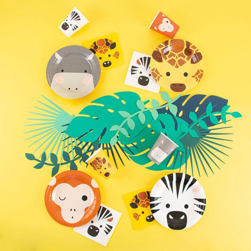 My Little Day Świeczki zwierzęta safari - 8 sztuk - Pan Talerzyk