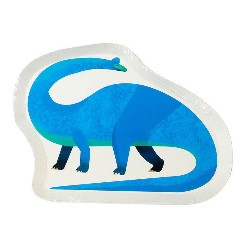 Talking Tables Talerzyki dinozaury - 12 sztuk - Pan Talerzyk