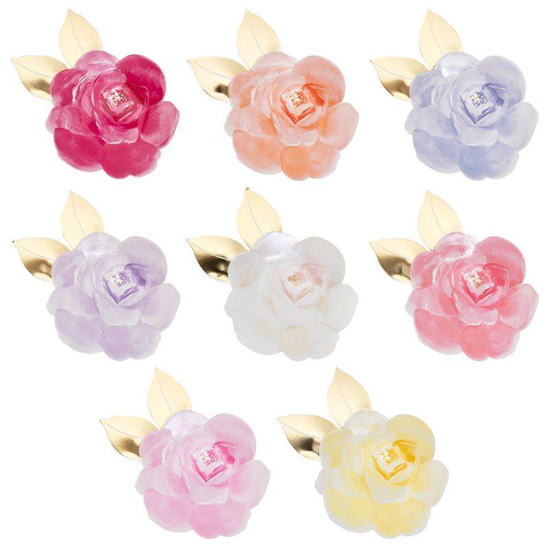 Meri Meri Talerzyki kwiat róży - 8 sztuk - Pan Talerzyk