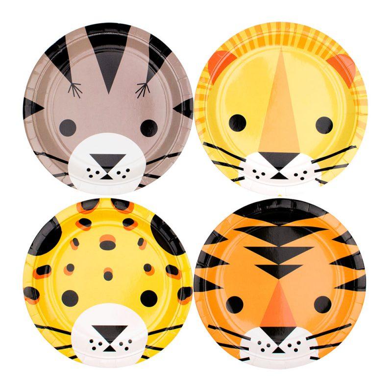 My Little Day Talerzyki safari małe - 8 sztuk - Pan Talerzyk