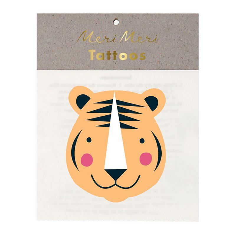 Meri Meri Tatuaże Tygrys - Pan Talerzyk