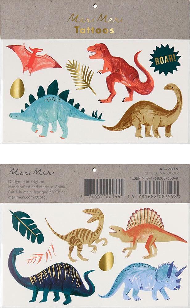 Meri Meri Tatuaże dinozaury - Pan Talerzyk