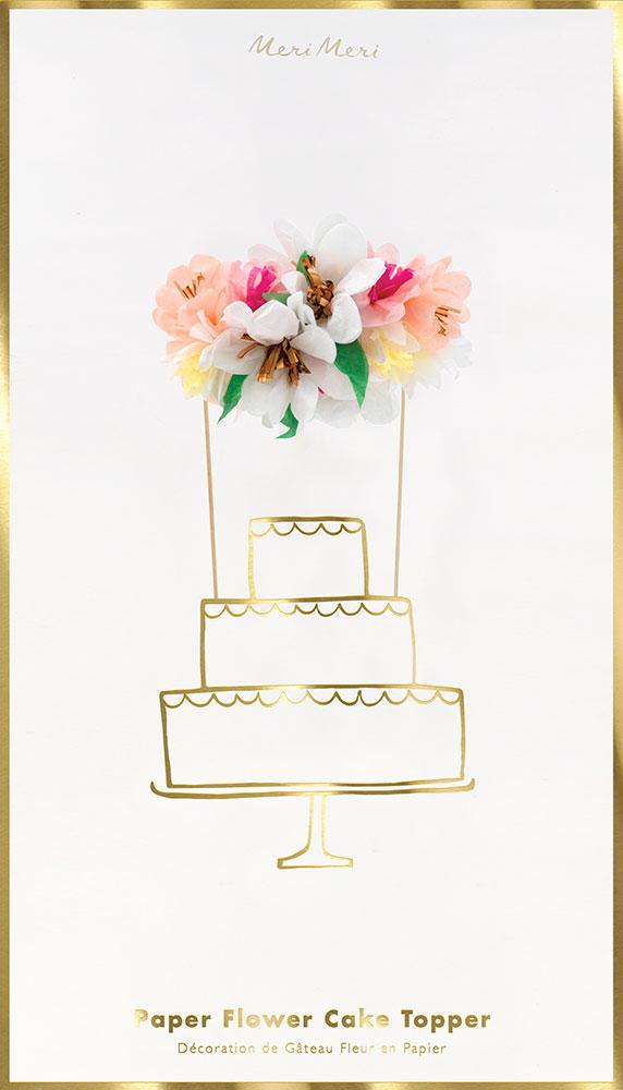 Meri Meri Topper na tort bukiet kwiatów - Pan Talerzyk