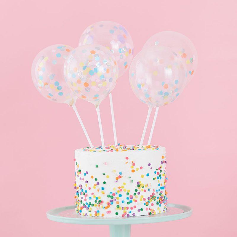 Ginger Ray Toppery baloniki z konfetti - Pan Talerzyk