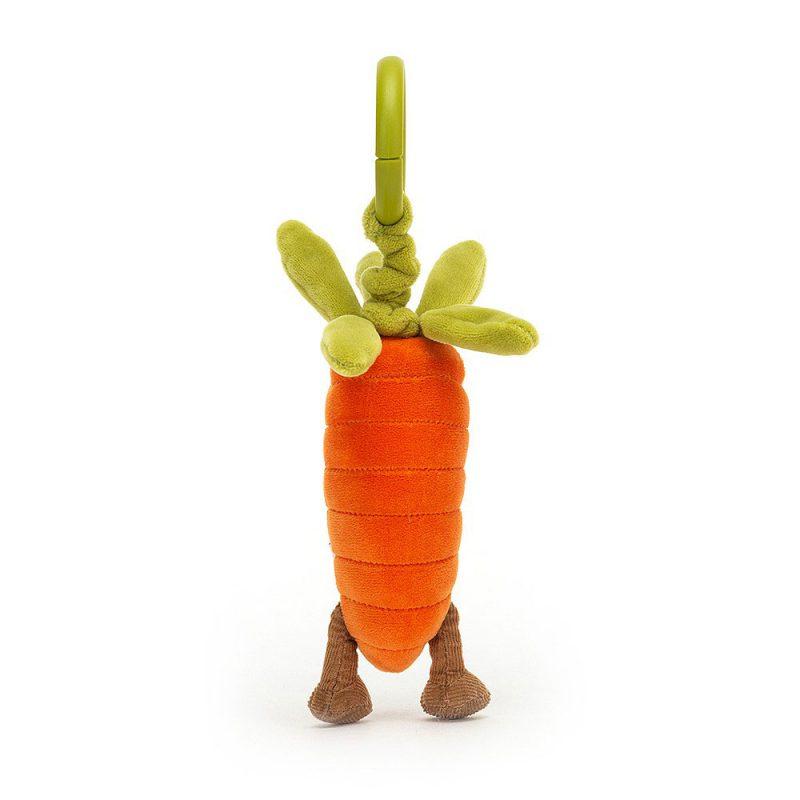 JellyCat Warzywa marchewka zabawka drgająca 15 cm - Pan Talerzyk