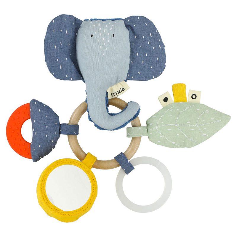 Trixie Baby Zabawka aktywizująca sensoryczna Mrs. Elephant - Pan Talerzyk