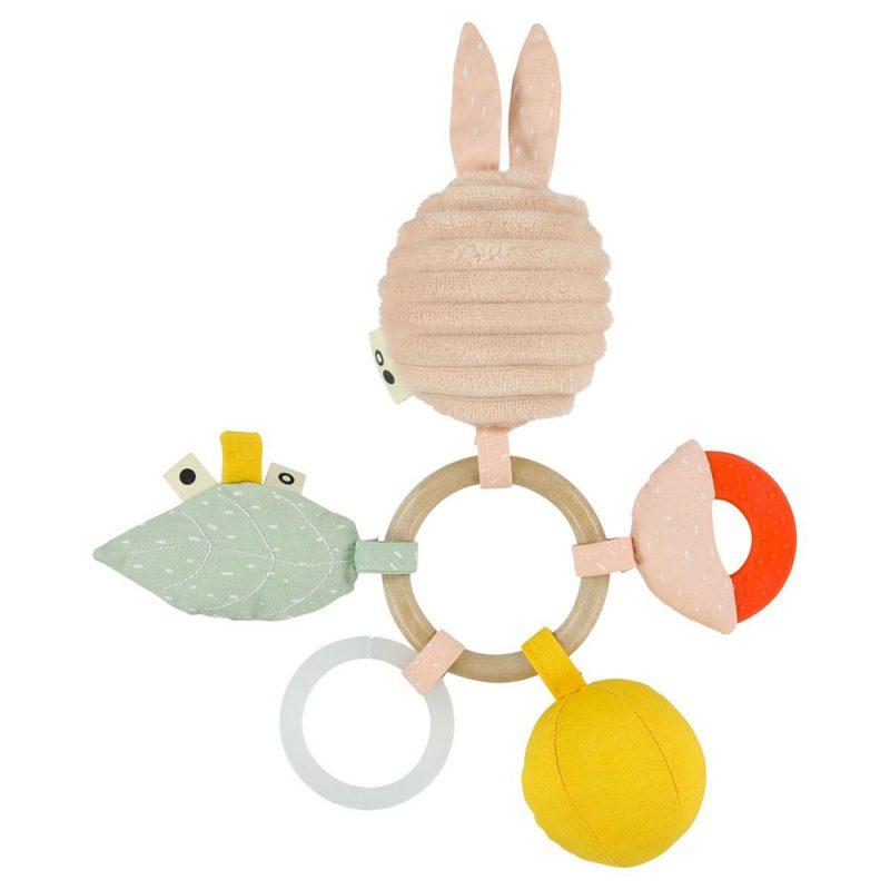 Trixie Baby Zabawka aktywizująca sensoryczna Mrs. Rabbit - Pan Talerzyk