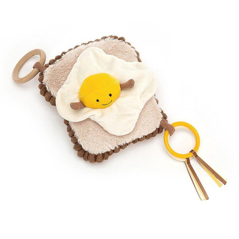 JellyCat Zawieszka jajko na toście Amuseable 17 cm - Pan Talerzyk