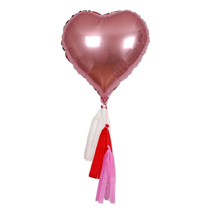Meri Meri Zestaw balonów serce - 6 sztuk - Pan Talerzyk