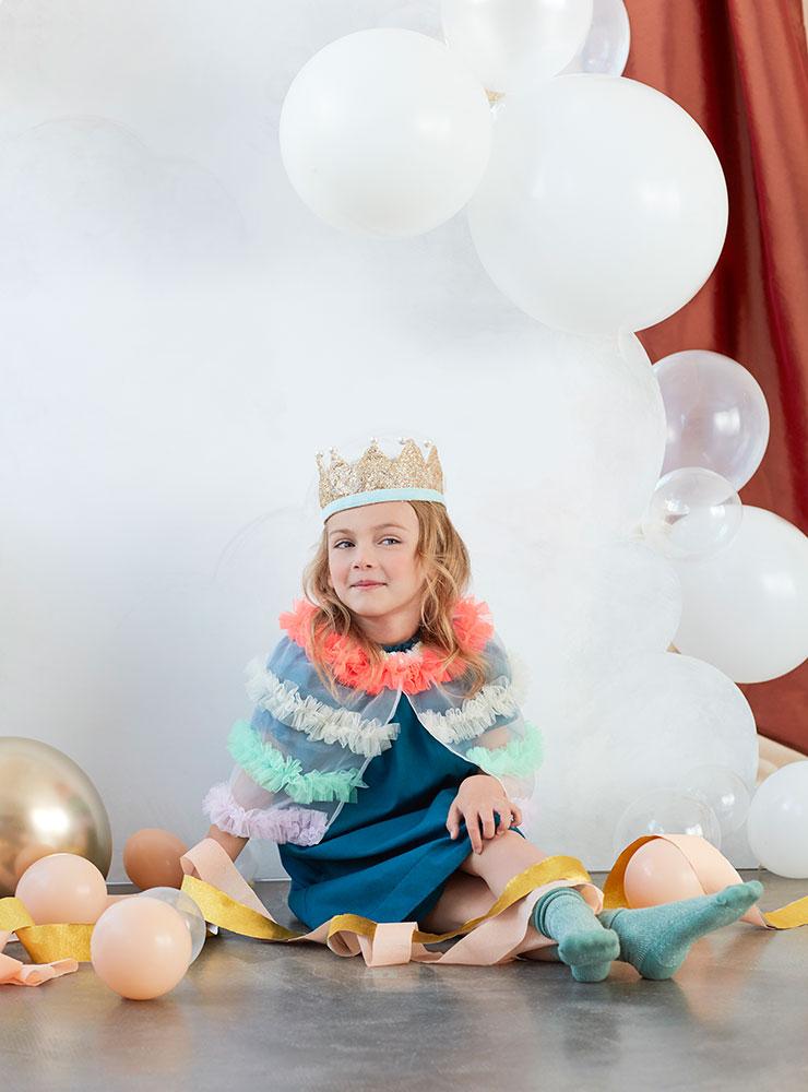 Meri Meri Złota korona z perłami - Pan Talerzyk