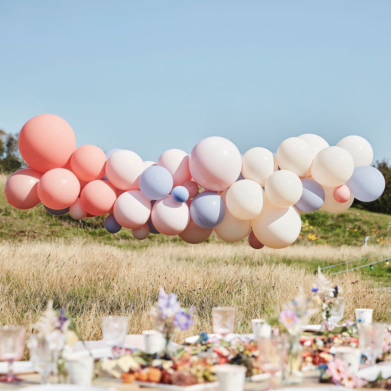 Ginger Ray Łuk balonowy blush&nude - Pan Talerzyk