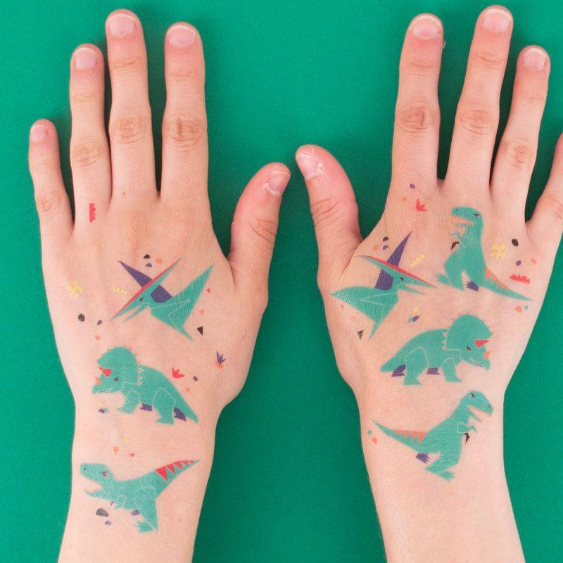 My Little Day Tatuaże zielone dinozaury - Pan Talerzyk